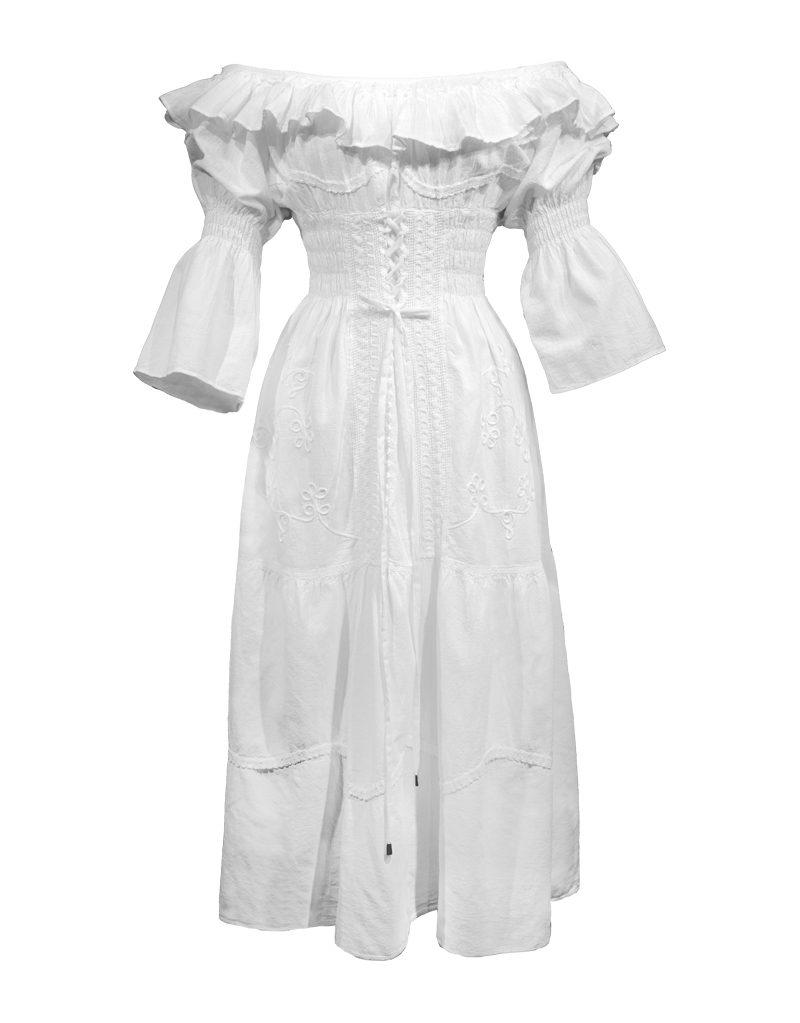 CANDICE CUOCO's GIORGIA Off-the-Shoulder Dress - Front