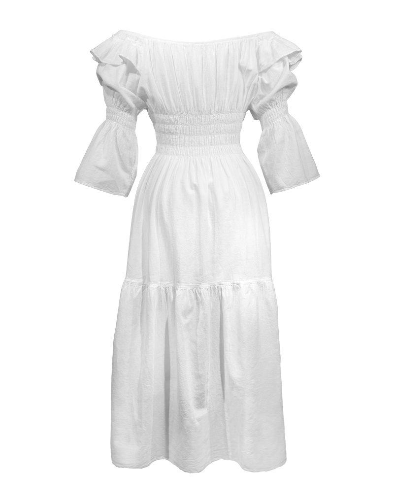 CANDICE CUOCO's GIORGIA Off-the-Shoulder Dress - Back