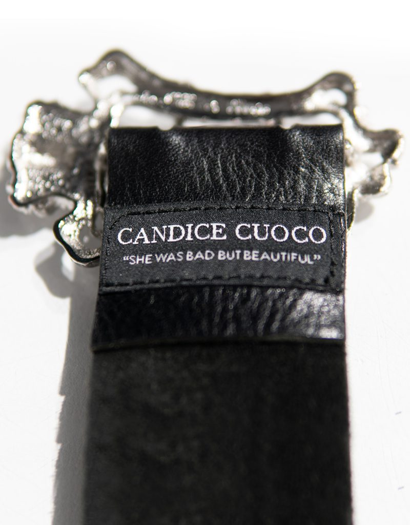 CANDICE CUOCO's ADELASIA Art Nouveau Leather Belt - Back