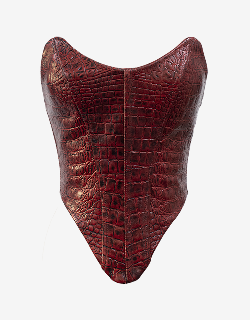 Red Leather Corset_Front